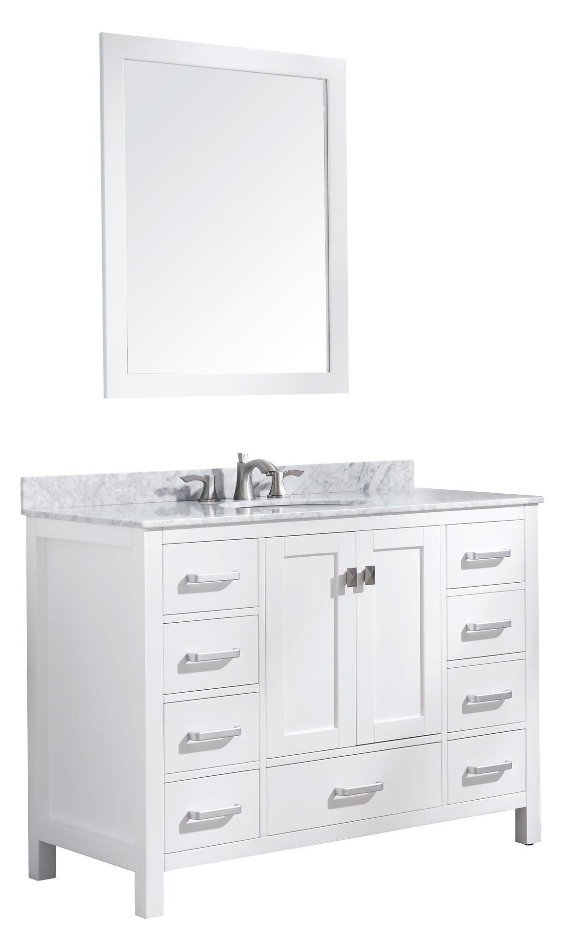 Chateau 48 Bathroom Vanity With Carrara White Marble Top