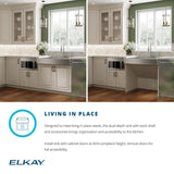 "Elkay 30"" Stainless Steel ADA Workstation Farmhouse Sink, Polished Satin, ELDSSF30279DBG"
