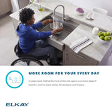 "Elkay 33"" Stainless Steel ADA Workstation Farmhouse Sink, Polished Satin, ELDSSF33279DBG"