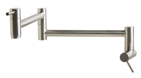 ALFI Brushed Stainless Steel Retractable Pot Filler Faucet, AB5019-BSS