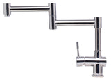 ALFI Solid Polished Stainless Steel Retractable Single Hole Kitchen Faucet, AB2038-PSS - The Sink Boutique