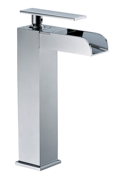 ALFI Polished Chrome Single Hole Tall Waterfall Bathroom Faucet, AB1597-PC