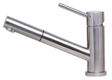 ALFI Solid Brushed Stainless Steel Pull Out Single Hole Kitchen Faucet, AB2025-BSS - The Sink Boutique