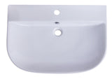 "ALFI 28"" White D-Bowl Porcelain Wall Mounted Bath Sink, AB112 - The Sink Boutique"