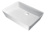 "19"" Sharon Vessel Sink in Matte White, LS-AZ524a - The Sink Boutique"