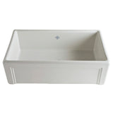 "Rohl Shaws 30"" Fireclay Single Bowl Farmhouse Apron Kitchen Sink, Parchment, RC3017PCT - The Sink Boutique"