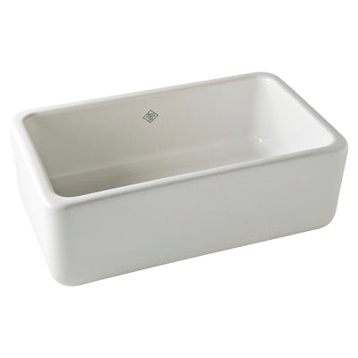 "Rohl Shaws 30"" Fireclay Single Bowl Thick Farmhouse Apron Kitchen Sink, Parchment, RC3018PCT - The Sink Boutique"