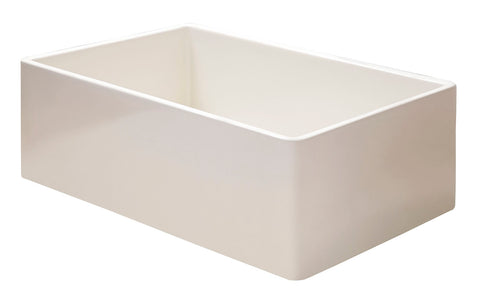 "ALFI brand 36"" Fireclay Farmhouse Sink, Biscuit, AB536-B"