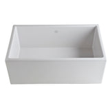"Rohl Shaws 30"" Fireclay Single Bowl Thin Farmhouse Apron Kitchen Sink, White, MS3018WH - The Sink Boutique"