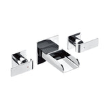 ALFI Polished Chrome Widespread Wall Mounted Modern Waterfall Bathroom Faucet, AB1796-PC