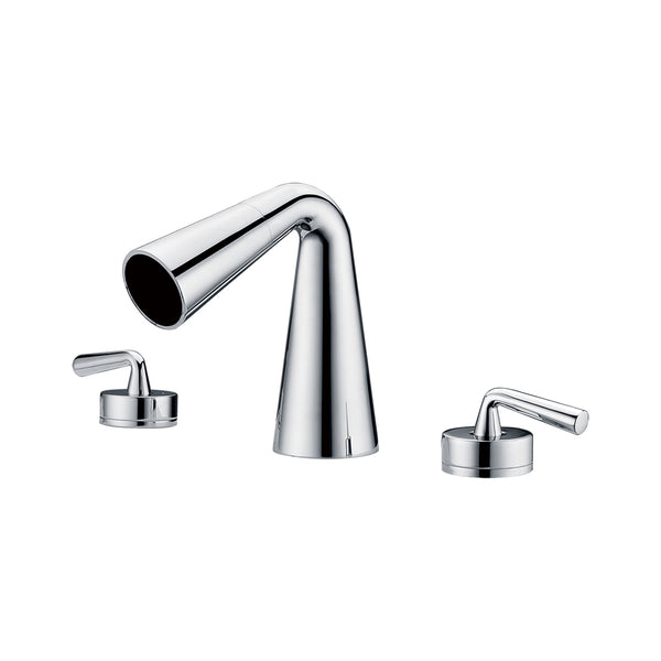 ALFI Polished Chrome Widespread Cone Waterfall Bathroom Faucet, AB1790-PC