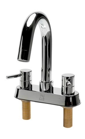 ALFI brand AB1400-PC Polished Chrome Two-Handle 4'' Centerset Bathroom Faucet