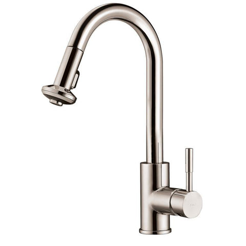 "Dawn 16"" 1.8 GPM Pull Down Kitchen Faucet, Brushed Nickel, AB50 3316BN"