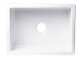 "ALFI brand AB2418SB-B  24"" Biscuit Smooth Thick Wall Fireclay Single Bowl Farmhouse Sink Top"