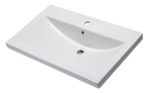 "Eago 19"" Porcelain Bathroom Sink, White, BH001"