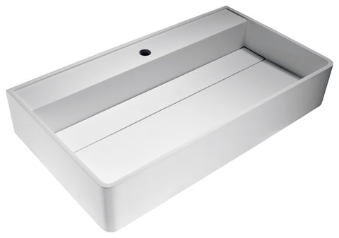 "ANZZI 31"" Tilia Vessel Sink in Matte White, LS-AZ531b"
