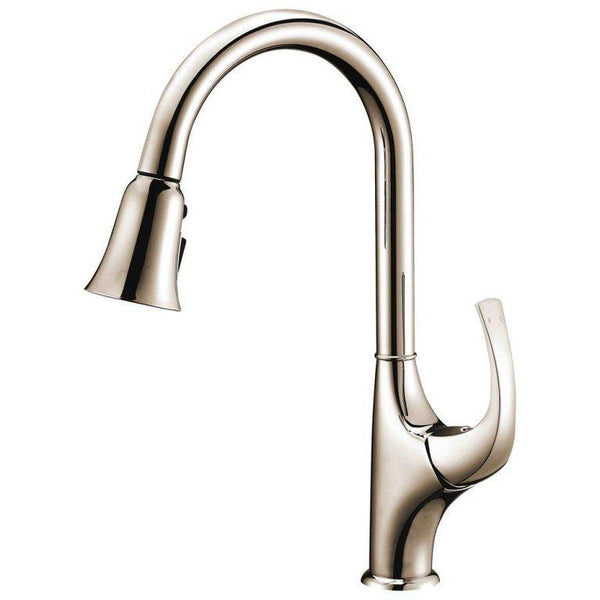 "Dawn 15"" 1.18 GPM Pull Out Kitchen Faucet, Brushed Nickel, AB04 3277BN"