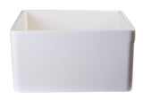 "ALFI brand AB505-B Biscuit 26"" Contemporary Smooth Apron Fireclay Farmhouse Kitchen Sink - The Sink Boutique"