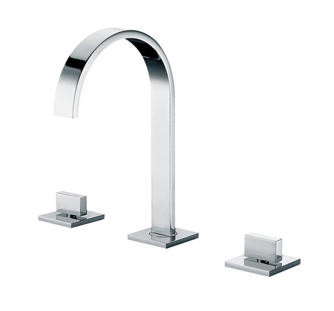 ALFI Polished Chrome Gooseneck Widespread Bathroom Faucet, AB1336-PC