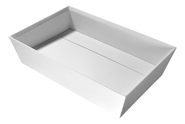 "ANZZI 23"" Entelea Vessel Sink in Matte White, LS-AZ523"