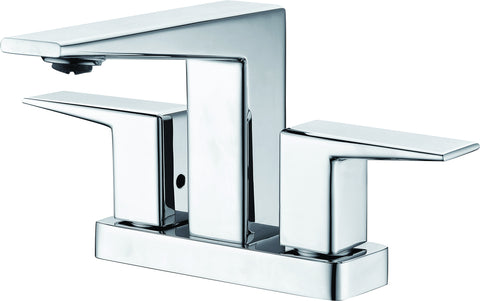 ALFI brand AB1020-PC Polished Chrome Two-Handle 4'' Centerset Bathroom Faucet