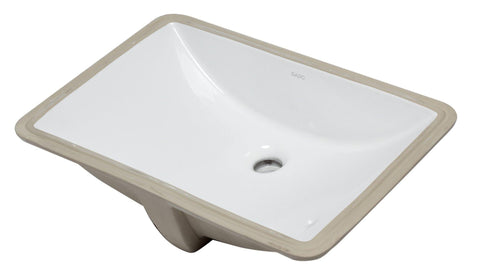 "Eago 15"" Porcelain Bathroom Sink, White, BC227"