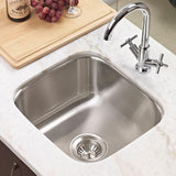 "Houzer 16"" Stainless Steel Undermount Club Prep/Large Bar Sink Bar Sink, MS-1708-1 - The Sink Boutique"