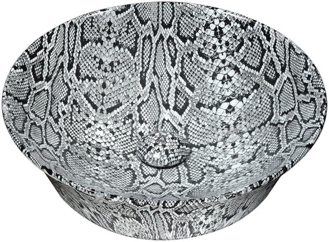 "ANZZI 16"" Diamond Back Crown Series Ceramic Vessel Sink in Diamond Back Finish, LS-AZ232"