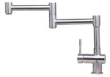 ALFI Solid Brushed Stainless Steel Retractable Single Hole Kitchen Faucet, AB2038-BSS - The Sink Boutique
