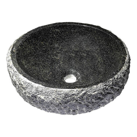 "16"" Dragons Ash Vessel Sink in Mandy Black, LS-AZ144 - The Sink Boutique"