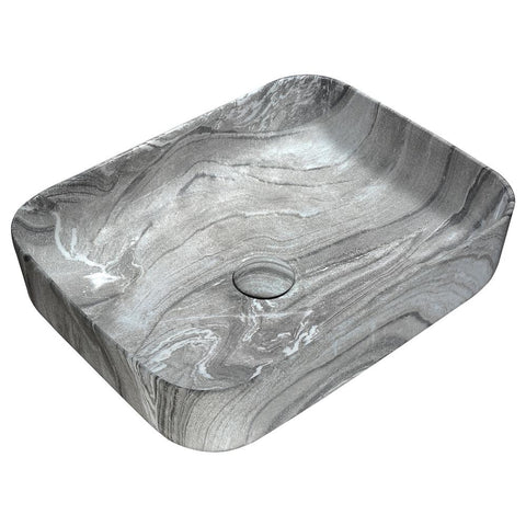 "19"" Marbled Series Ceramic Vessel Sink in Marbled Ash Finish, LS-AZ242 - The Sink Boutique"