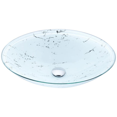 "19"" Marbela Series Vessel Sink in Marbled White, LS-AZ178 - The Sink Boutique"