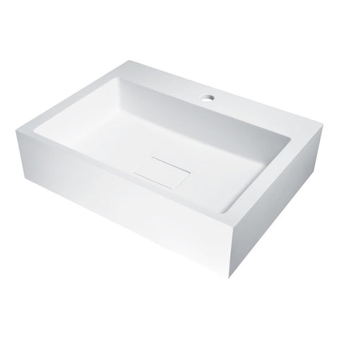 "23"" Alcea Vessel Sink in Matte White, LS-AZ519 - The Sink Boutique"
