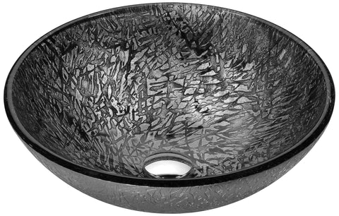 "ANZZI 16"" Arc Series Vessel Sink in Arctic Sheer, LS-AZ207"