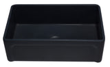 "ALFI 33"" Single Bowl Fireclay Farmhouse Apron Sink, Black Matte, AB3320SB-BM"