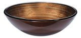 "16"" Posh Series Deco-Glass Vessel Sink in Radial Umber, LS-AZ284 - The Sink Boutique"