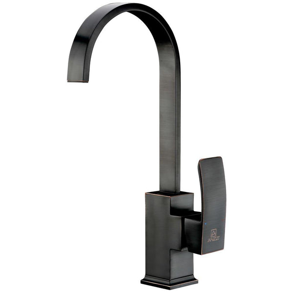 ANZZI Opus Series Single-Handle Standard Kitchen Faucet in Oil Rubbed Bronze KF-AZ035ORB - The Sink Boutique