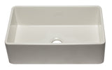 ALFI brand AB3320SB-B 33 inch Biscuit Reversible Single Fireclay Farmhouse Kitchen Sink Angled