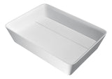 "ANZZI 19"" Sharon Vessel Sink in Matte White, LS-AZ524a"
