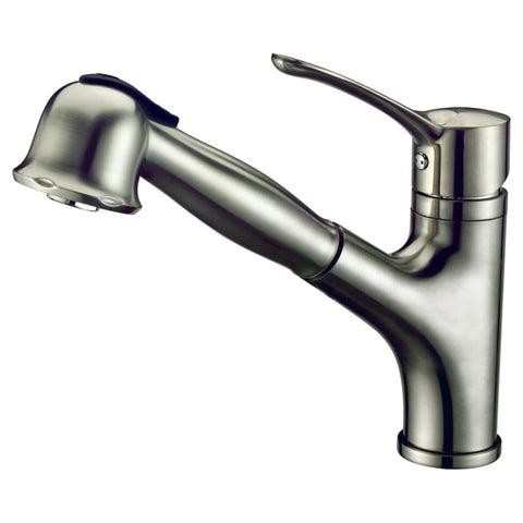 "Dawn 9"" 1.8 GPM Pull Out Kitchen Faucet, Brushed Nickel, AB50 3712BN"