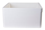 "ALFI brand AB506-B Biscuit 26"" Decorative Lip Apron Single Bowl Fireclay Farmhouse Kitchen Sink - The Sink Boutique"