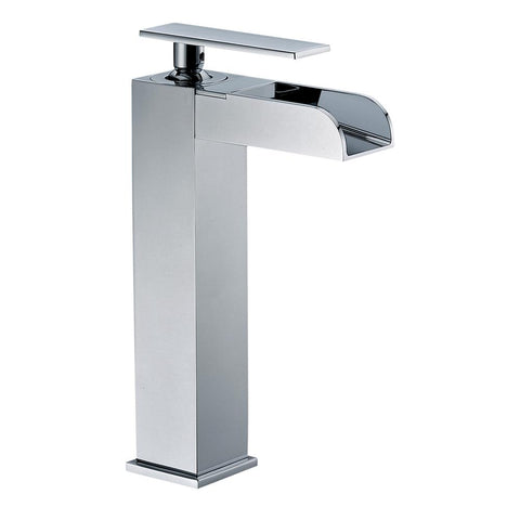 ALFI Polished Chrome Single Hole Tall Waterfall Bathroom Faucet, AB1597-PC - The Sink Boutique