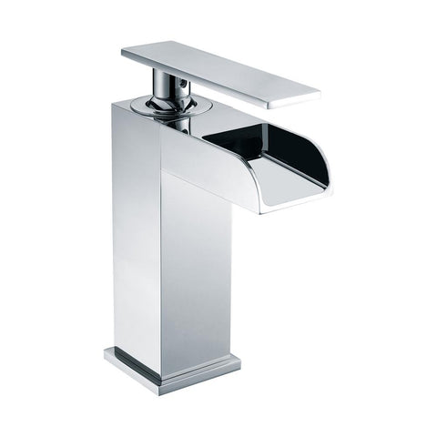 ALFI Polished Chrome Single Hole Waterfall Bathroom Faucet, AB1598-PC - The Sink Boutique