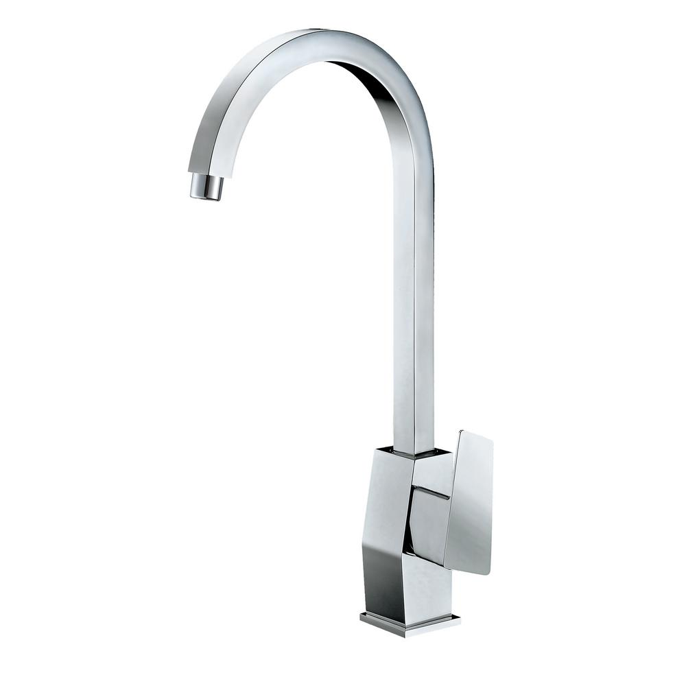 ALFI Polished Chrome Gooseneck Single Hole Bathroom Faucet, AB3470 ...