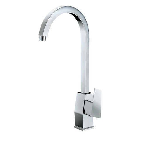 ALFI Polished Chrome Gooseneck Single Hole Bathroom Faucet, AB3470-PC - The Sink Boutique