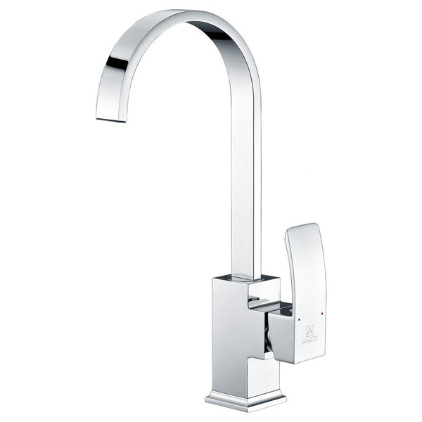 ANZZI Opus Series Single-Handle Standard Kitchen Faucet in Polished Chrome KF-AZ035 - The Sink Boutique