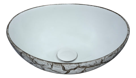"ANZZI 16"" Sona Series Ceramic Vessel Sink in Grey, LS-AZ272"