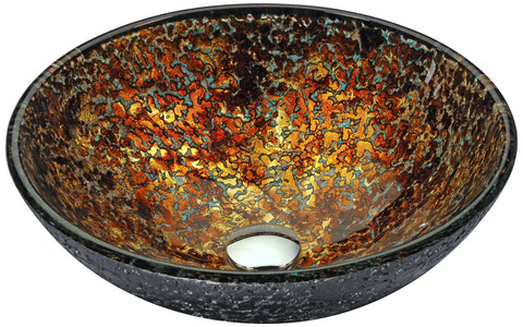 "ANZZI 16"" Alto Series Vessel Sink in Molten Gold, LS-AZ200"