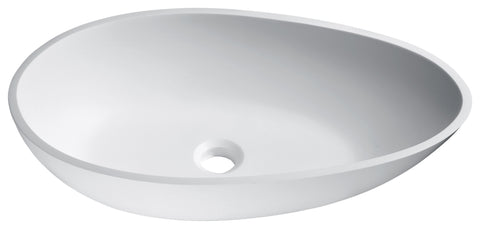 "ANZZI 23"" Anoda Vessel Sink in Matte White, LS-AZ526"