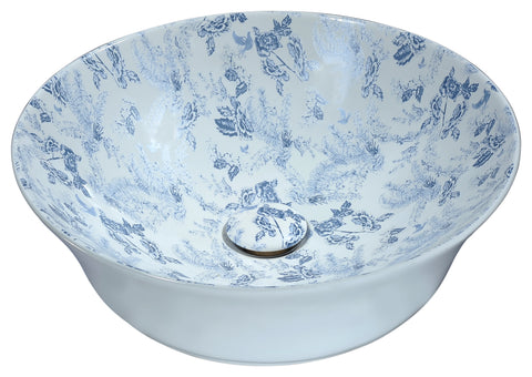 "ANZZI 16"" Spanish Series Ceramic Vessel Sink in Blue, LS-AZ261"